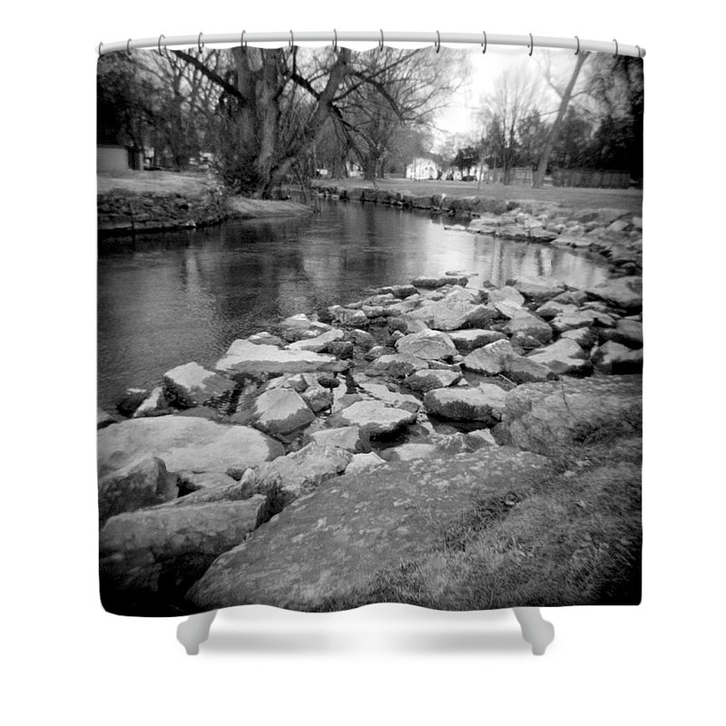 Photograph Shower Curtain featuring the photograph Le Tort Spring Run by Jean Macaluso