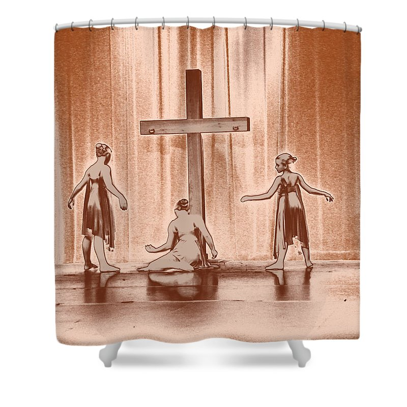 Dance Shower Curtain featuring the photograph Lead Me To The Cross by Kelley Sims