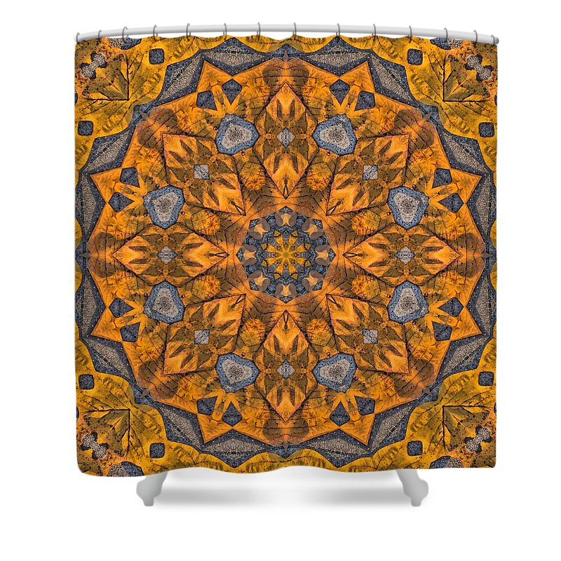 Kaleidoscope Shower Curtain featuring the photograph Leaf Glow by Lyle Hatch