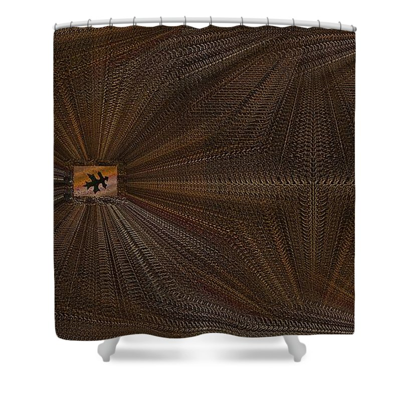 Leaf Shower Curtain featuring the digital art Leaf It Be by Tim Allen