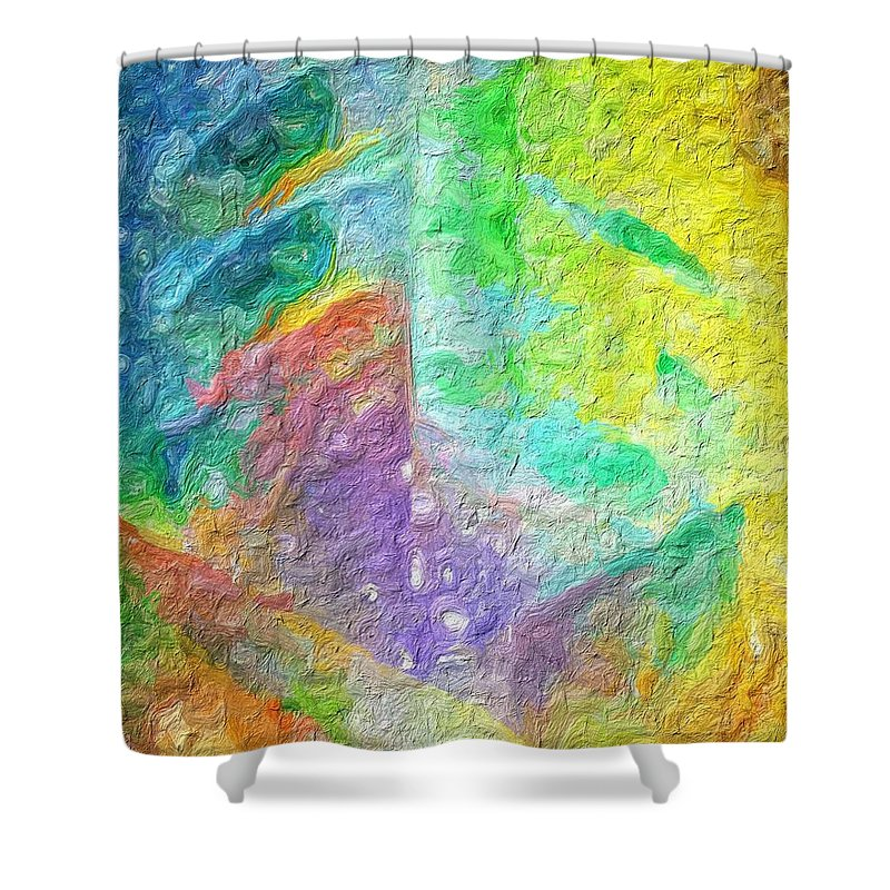 Abstract Shower Curtain featuring the photograph Leaf by Rita Koivunen
