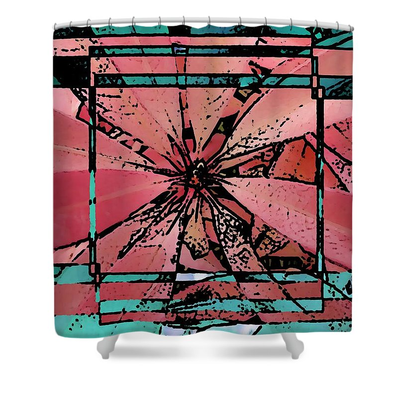Leaf Shower Curtain featuring the digital art Leafy Delight 2 by Tim Allen