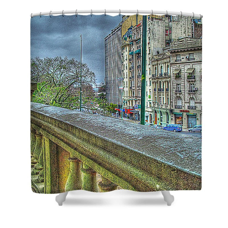 City Shower Curtain featuring the photograph Leandro Lam by Francisco Colon