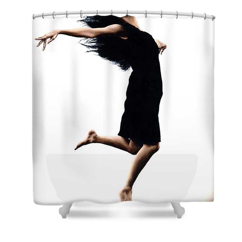 Ballet Shower Curtain featuring the painting Leap Into The Unknown by Richard Young