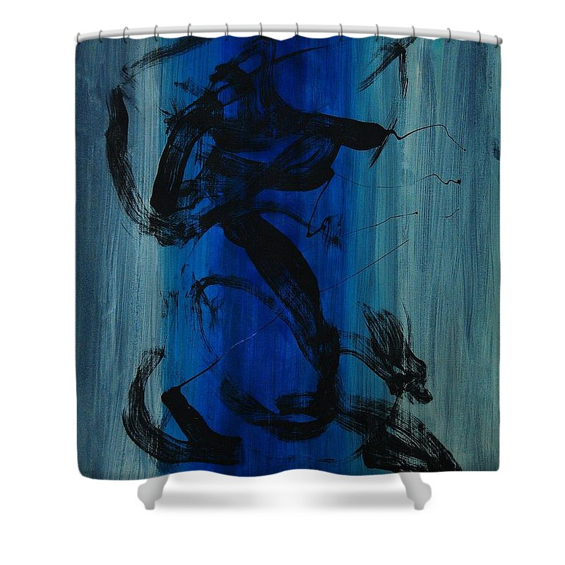 Acrylic Shower Curtain featuring the painting Leap Of Love by Lauren Luna