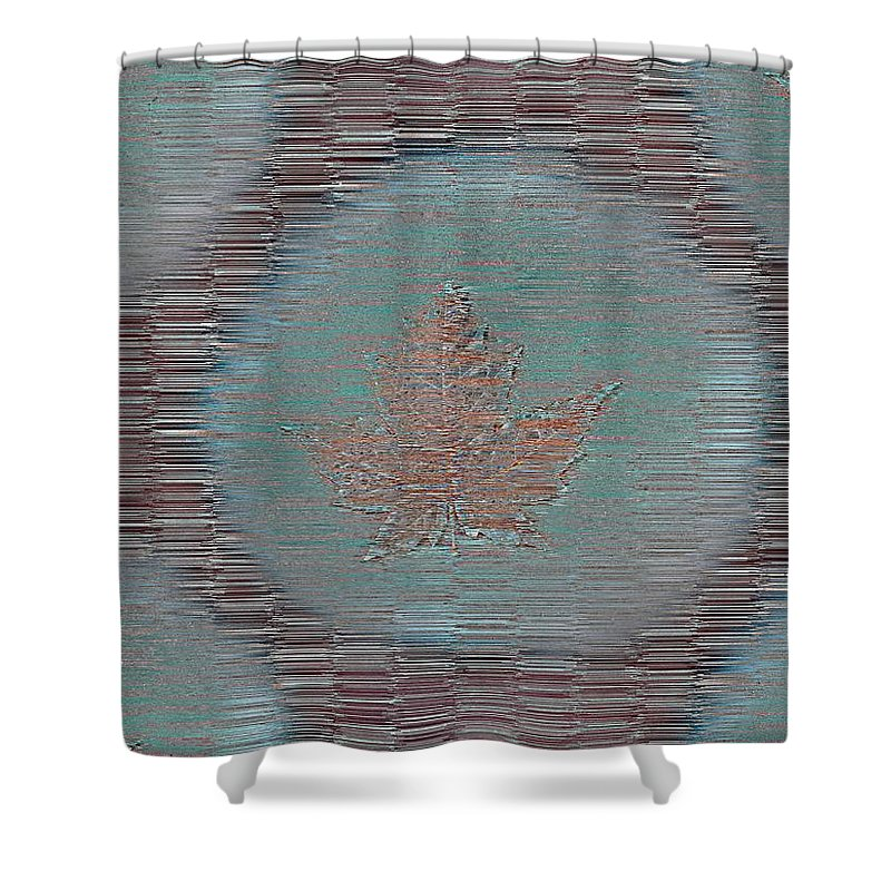 Leaves Shower Curtain featuring the photograph Leaves And Rain 7 by Tim Allen