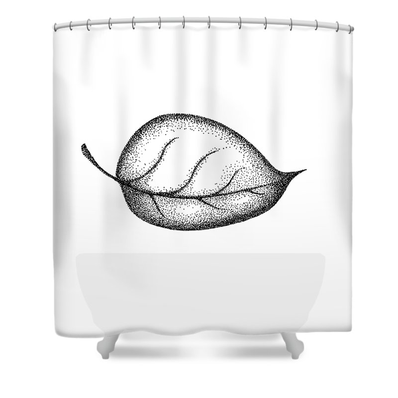 Leaves Print Shower Curtain Featuring The Painting Art Leave Wall Botanical