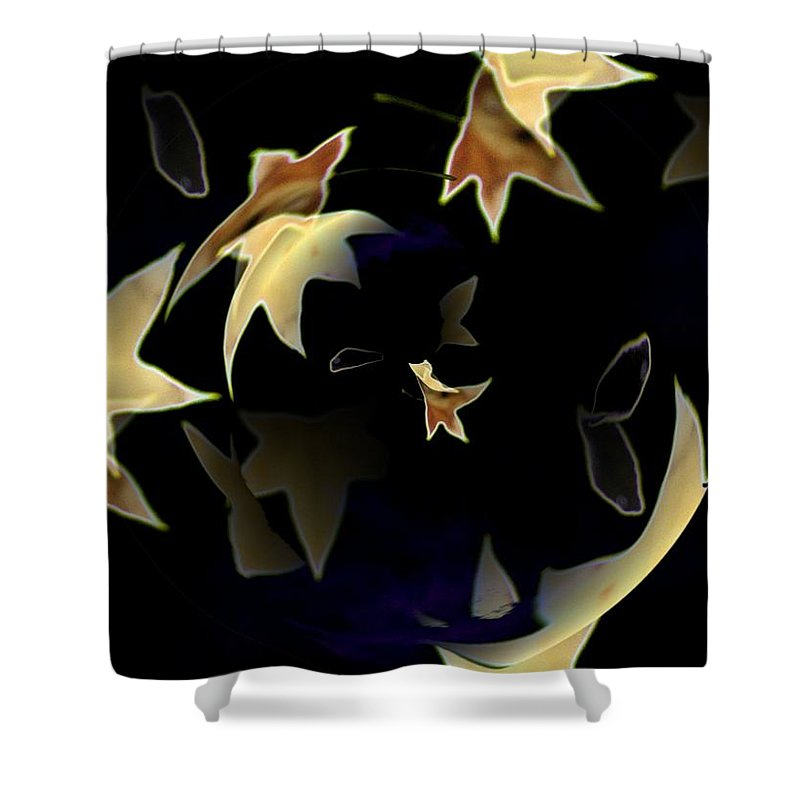 Leaves Shower Curtain featuring the photograph Leaves by Tim Allen