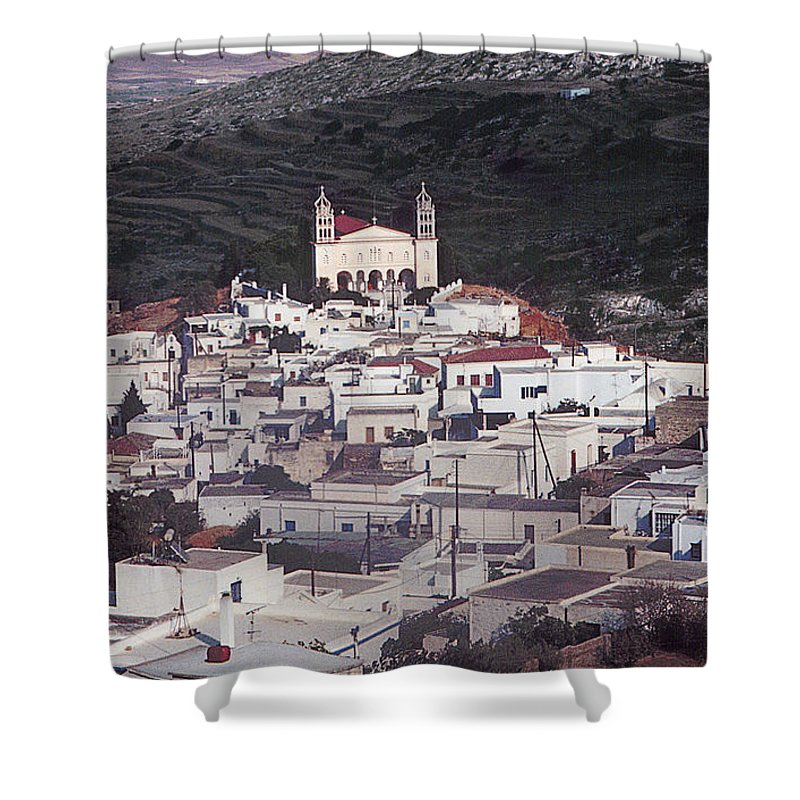 Lefkes Shower Curtain featuring the photograph Lefkes Greece Island Of Paros by Yuri Lev