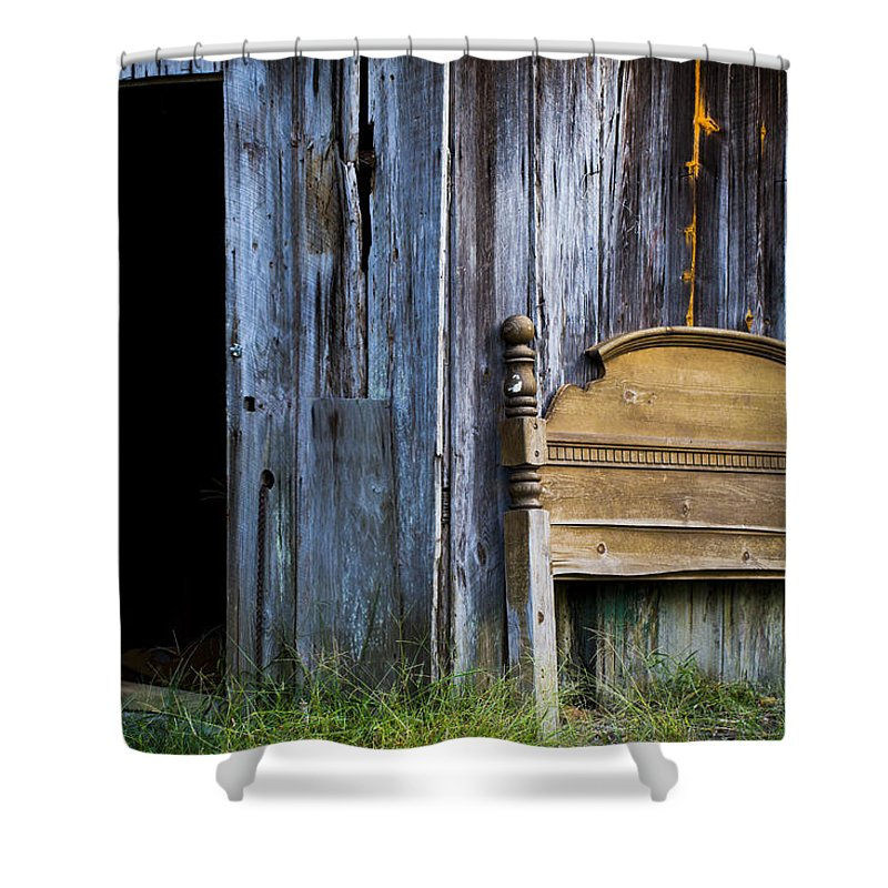 Rural Shower Curtain featuring the photograph Left Behind by Keith May