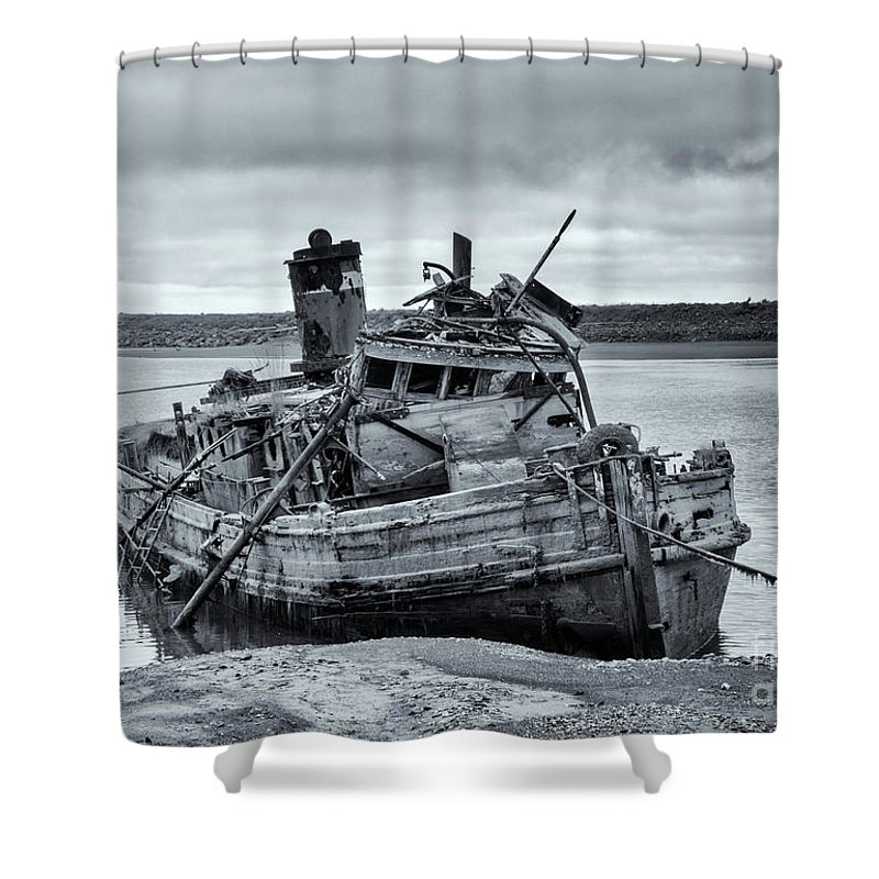 Mary D Hume Shower Curtain featuring the photograph Left To Rot by Mike Dawson