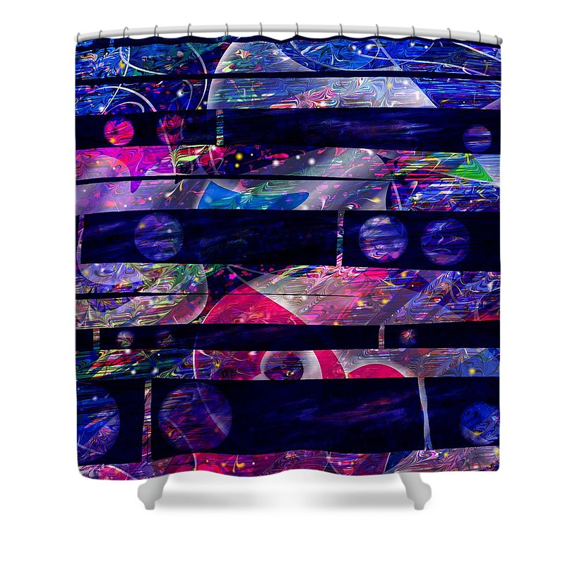 Abstract Shower Curtain featuring the digital art Leftovers by Rachel Christine Nowicki