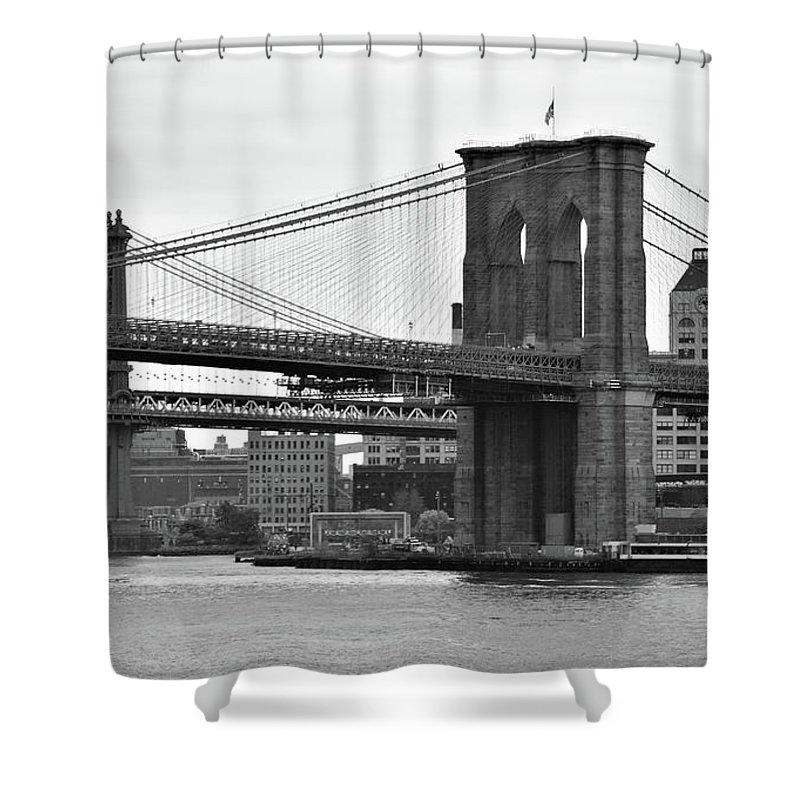 Bridge Shower Curtain featuring the photograph Legends by Mint Decor