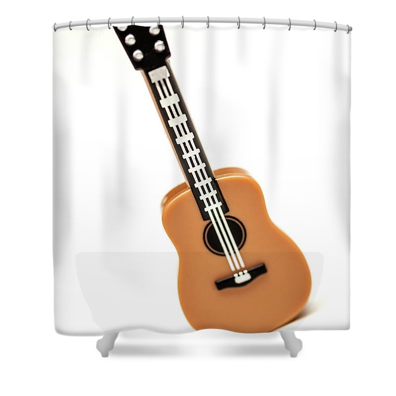 Guitar Shower Curtain Featuring The Photograph Lego By Samuel Whitton