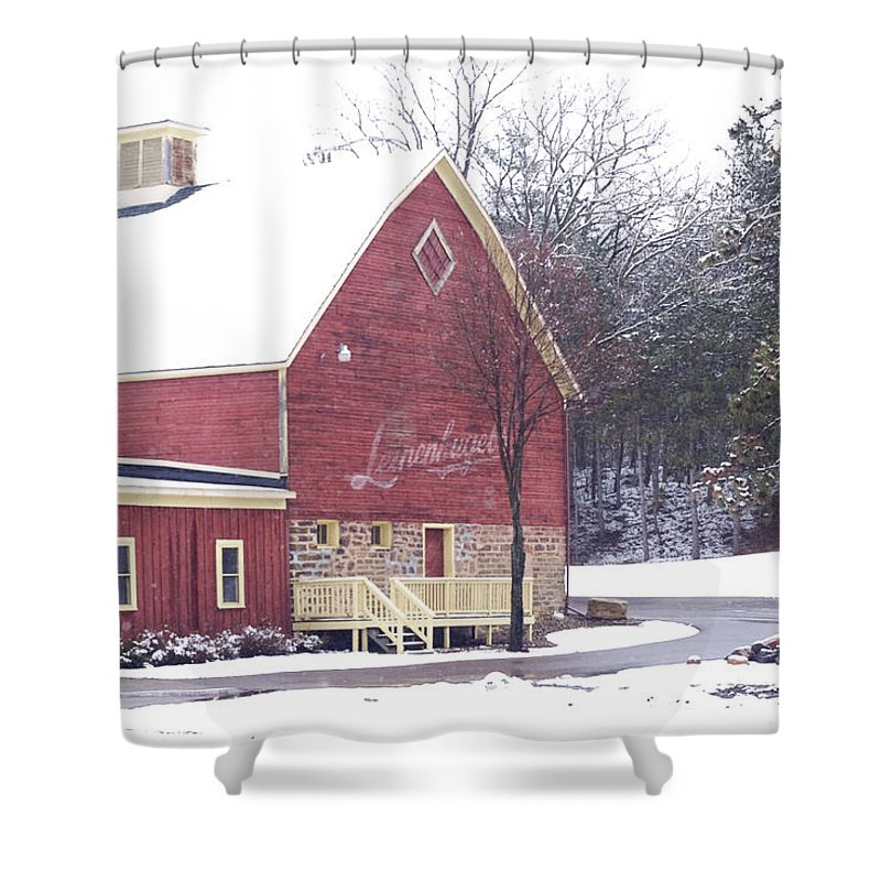 Barn Shower Curtain featuring the photograph Leinie by Tim Nyberg