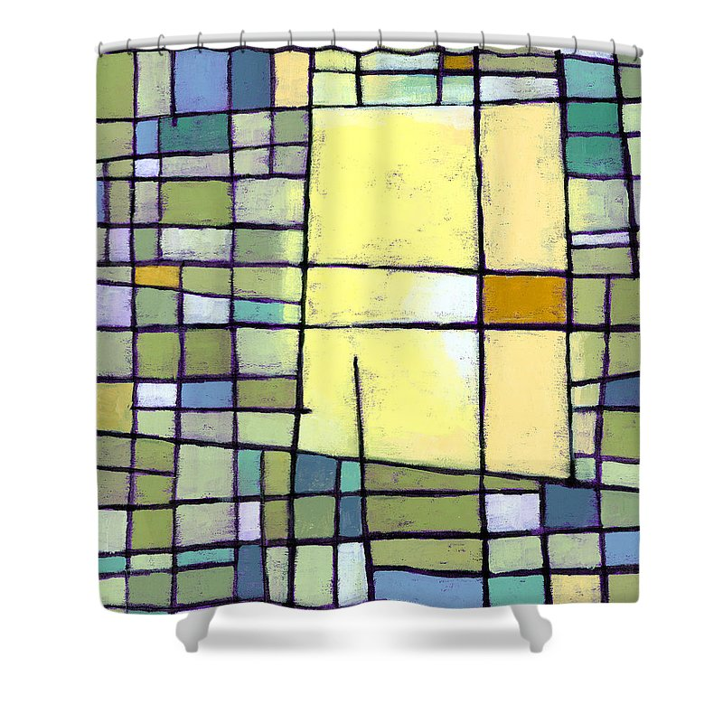 Grid Shower Curtains