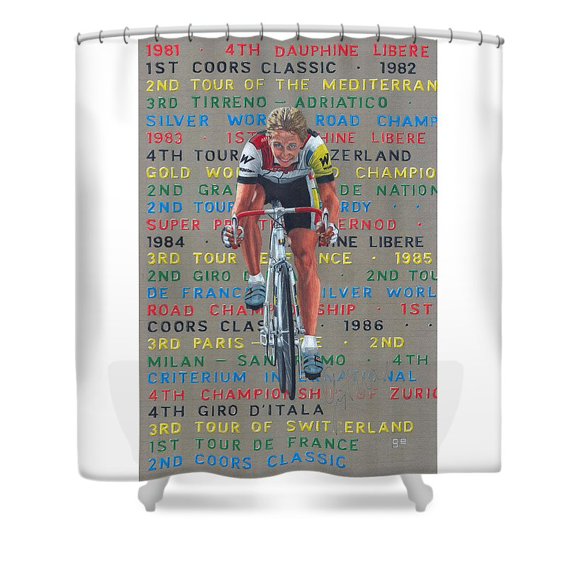 Lemond Shower Curtain Featuring The Drawing 86 By George Evans
