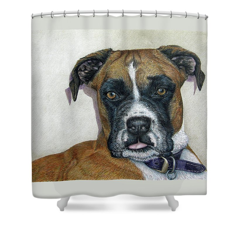 Fuqua - Artwork Shower Curtain featuring the drawing Lennox by Beverly Fuqua