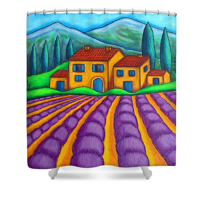 Provence Shower Curtain featuring the painting Les Couleurs De Provence by Lisa Lorenz