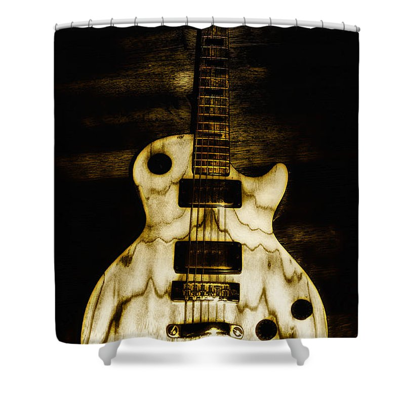 Les Paul Guitar Shower Curtain for Sale by Bill Cannon