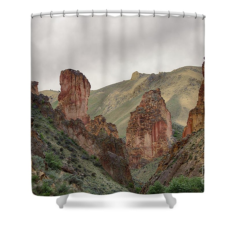 Eastern Oregon Shower Curtain featuring the photograph Leslie Gulch by Idaho Scenic Images Linda Lantzy