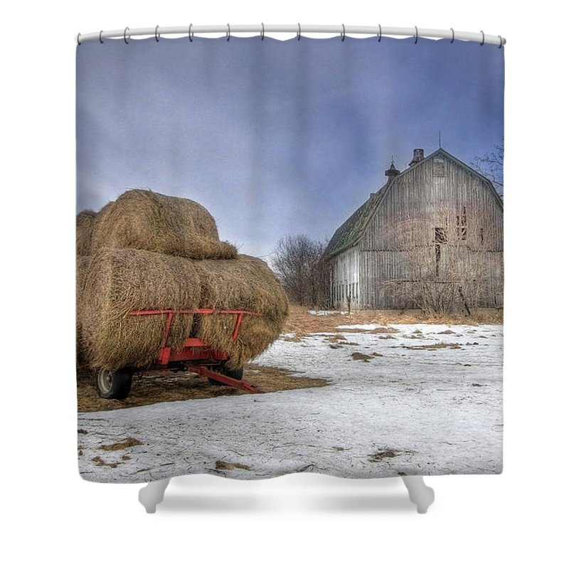 Old Barn Shower Curtain featuring the photograph Let 'em Roll by Lori Deiter