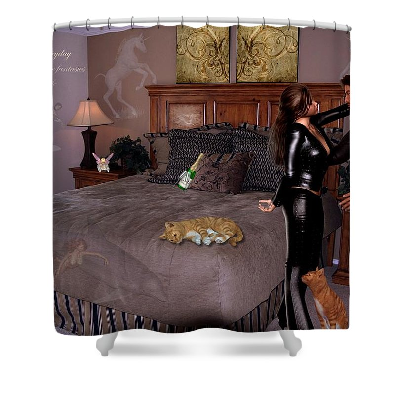 Composition Shower Curtain featuring the photograph Let Everyday Bring Your Fantasies To Life by RiaL Treasures