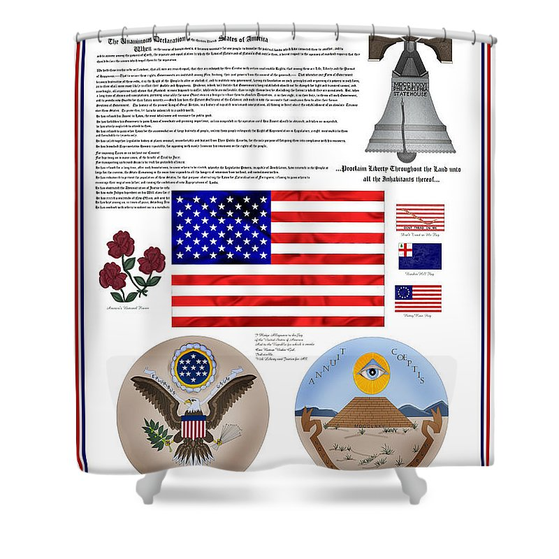Patriotic Shower Curtain featuring the painting Let Freedom Ring by Anne Norskog