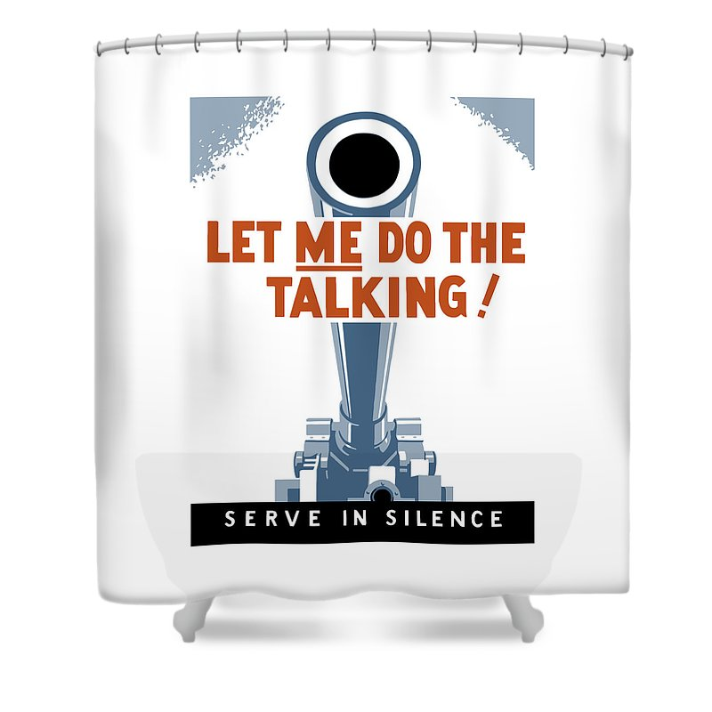 Artillery Shower Curtain featuring the painting Let Me Do The Talking by War Is Hell Store
