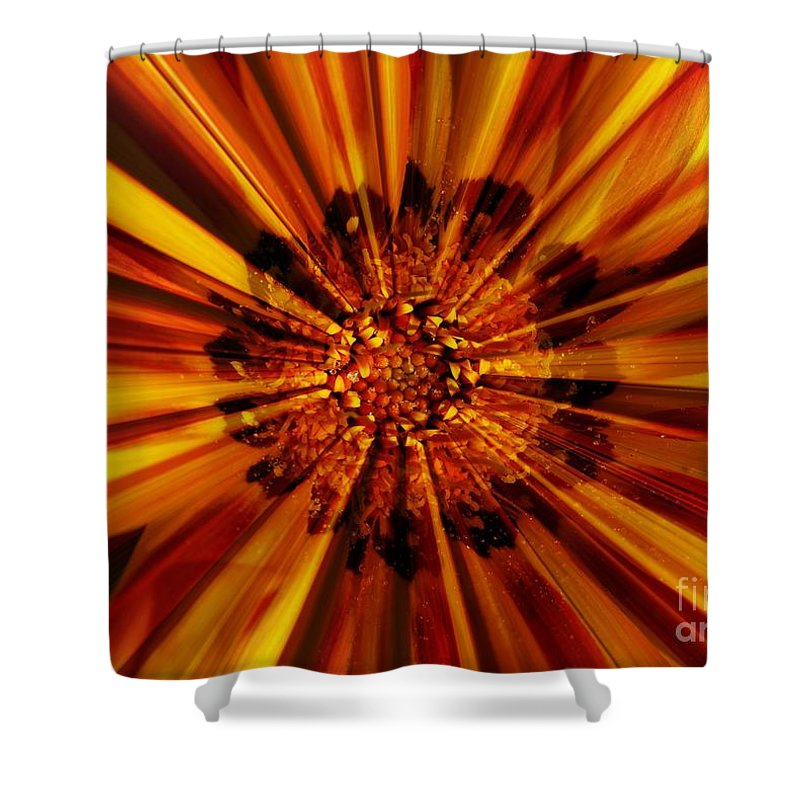 Nature Abstract Shower Curtain featuring the photograph Let Your Light Shine by Carol Groenen