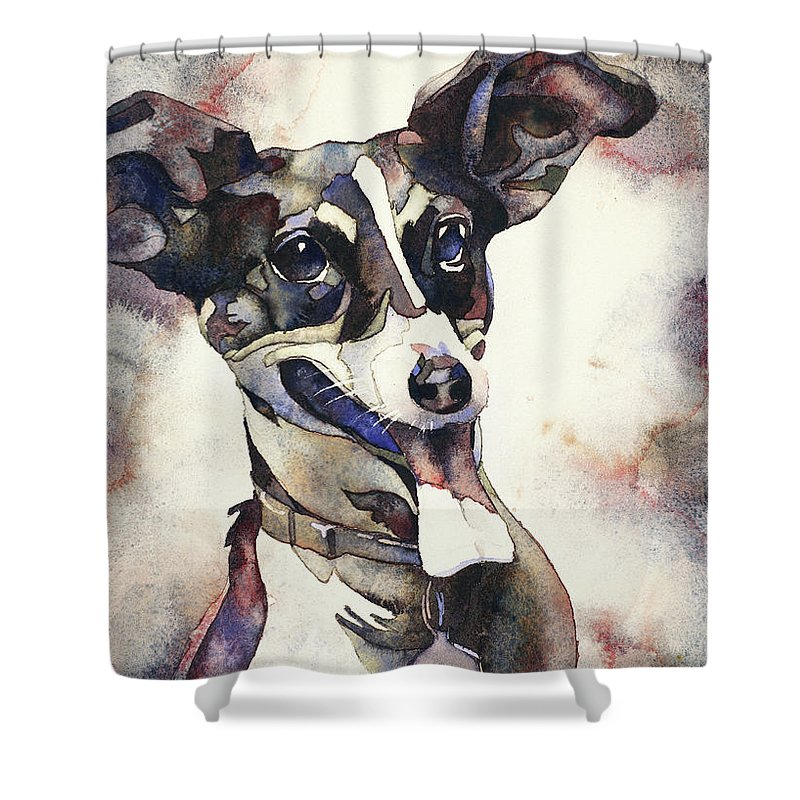 Art For House Shower Curtain featuring the painting Lets Chase A Car by Ryan Fox