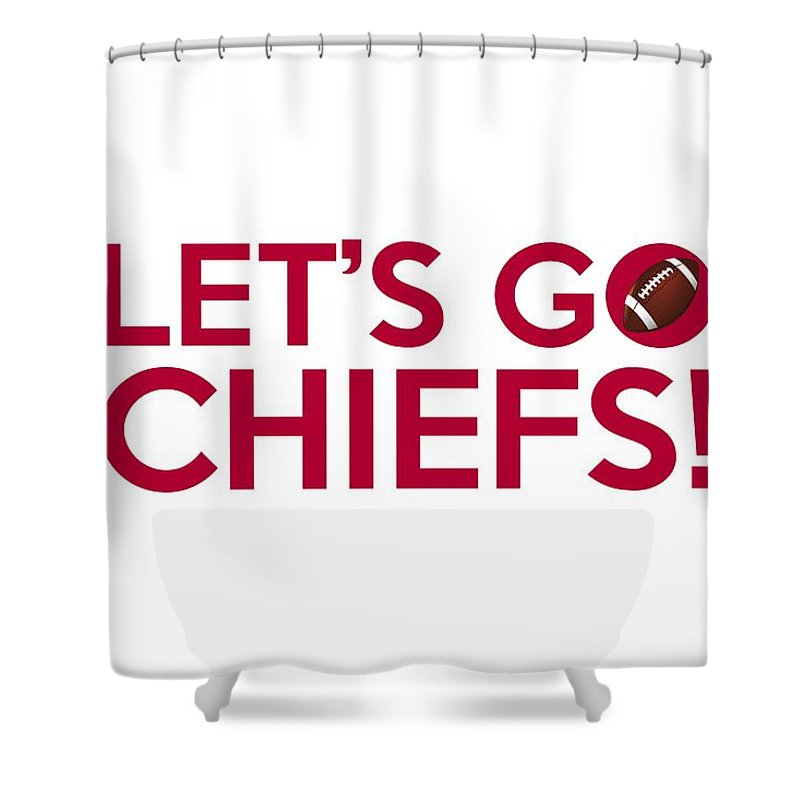Kansas City Chiefs Shower Curtain Featuring The Painting Lets Go By Florian Rodarte