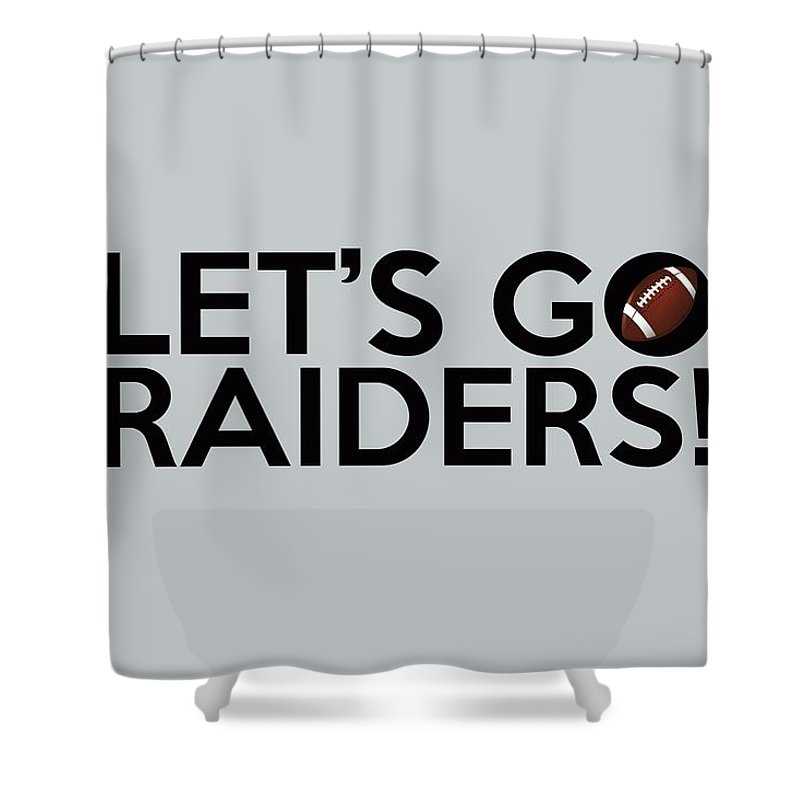 Oakland Raiders Shower Curtain Featuring The Painting Lets Go By Florian Rodarte