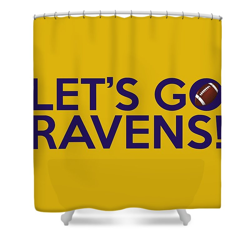 Baltimore Ravens Shower Curtain Featuring The Painting Lets Go By Florian Rodarte