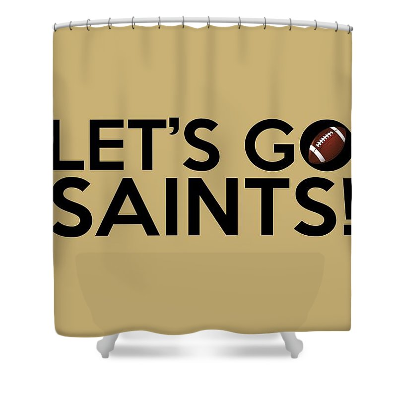 New Orleans Saints Shower Curtain Featuring The Painting Lets Go By Florian Rodarte