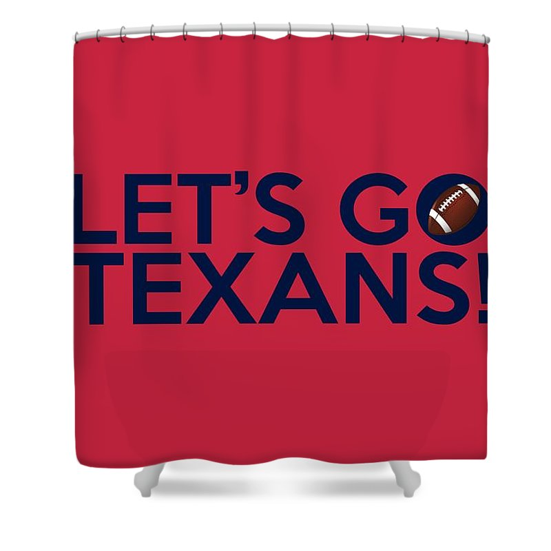 Houston Texans Shower Curtain Featuring The Painting Lets Go By Florian Rodarte