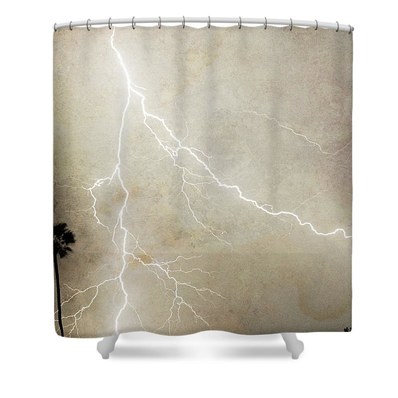 Lightning Shower Curtain featuring the photograph Let's Split by James BO Insogna