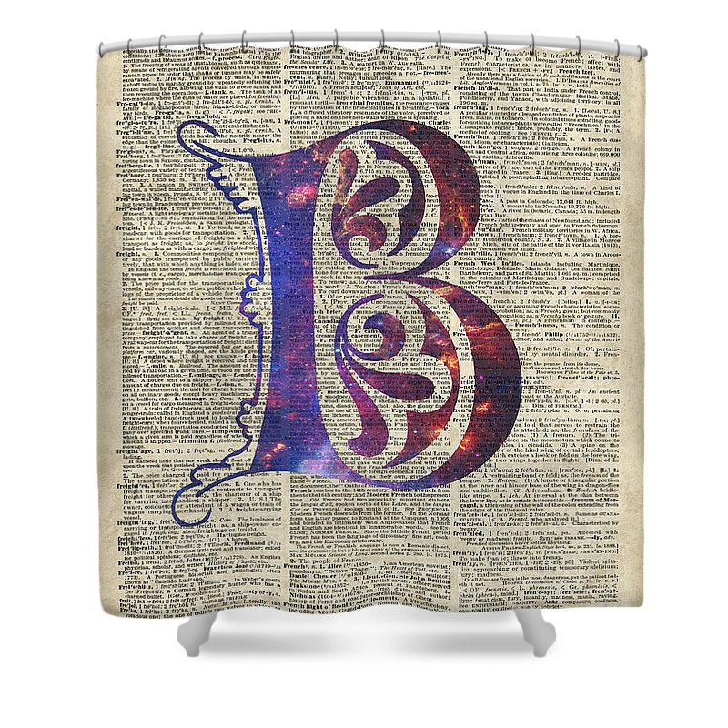 Letter B Shower Curtain featuring the digital art Letter B Monogram by Anna W