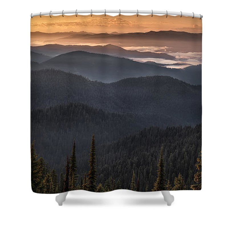 Altitude Shower Curtain featuring the photograph Lewis And Clark Route 2 by Leland D Howard