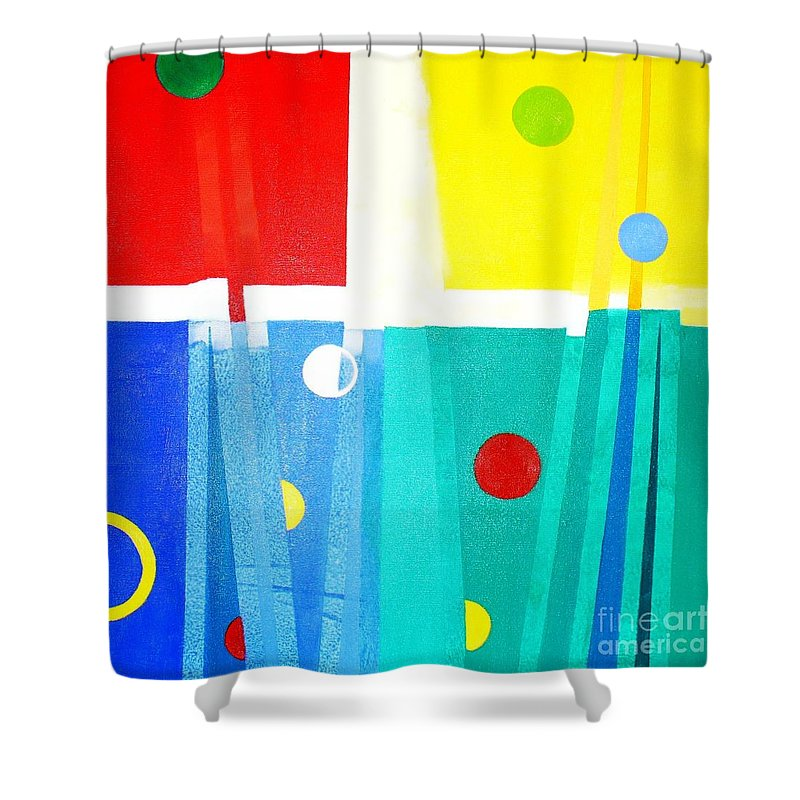 Abstract Shower Curtain featuring the painting Liberdade Freedom by Fernanda Cruz