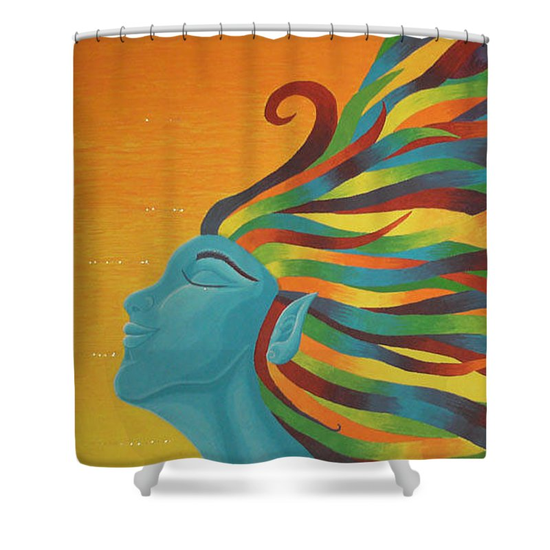 Color Shower Curtain featuring the painting Libertad by Emmely Hillewaert