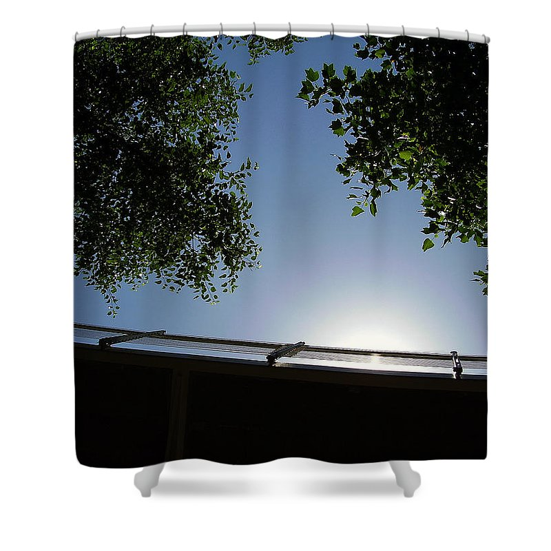 Liberty Bridge Shower Curtain featuring the photograph Liberty Bridge by Flavia Westerwelle