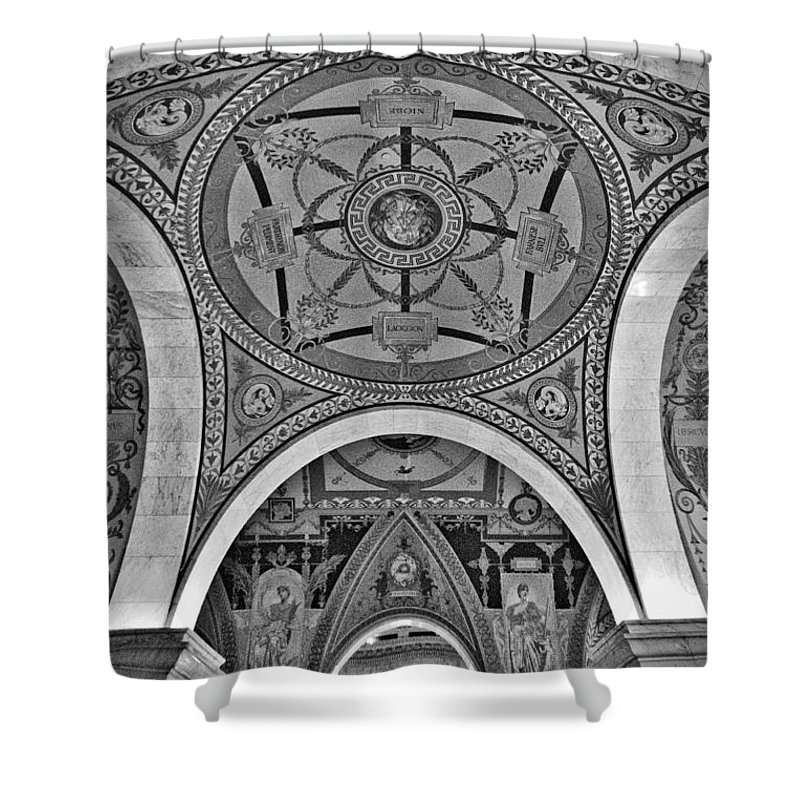 Congress Shower Curtain featuring the photograph Library Of Congress Arches And Murals by Stuart Litoff