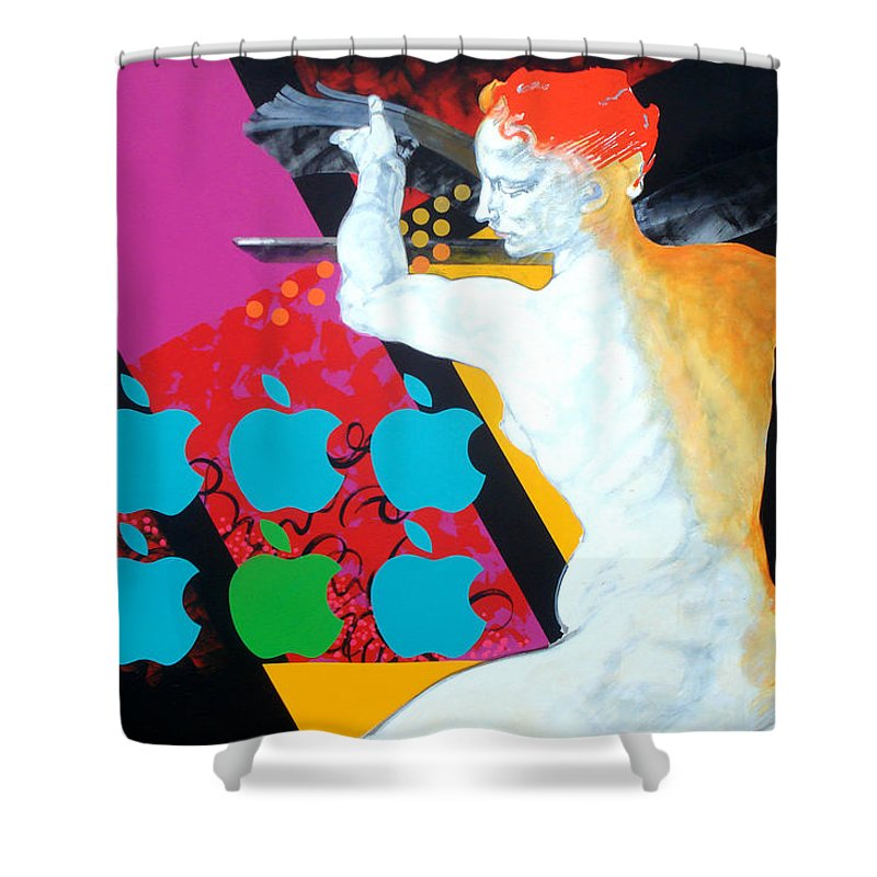 Classic Shower Curtain featuring the painting Libyan by Jean Pierre Rousselet