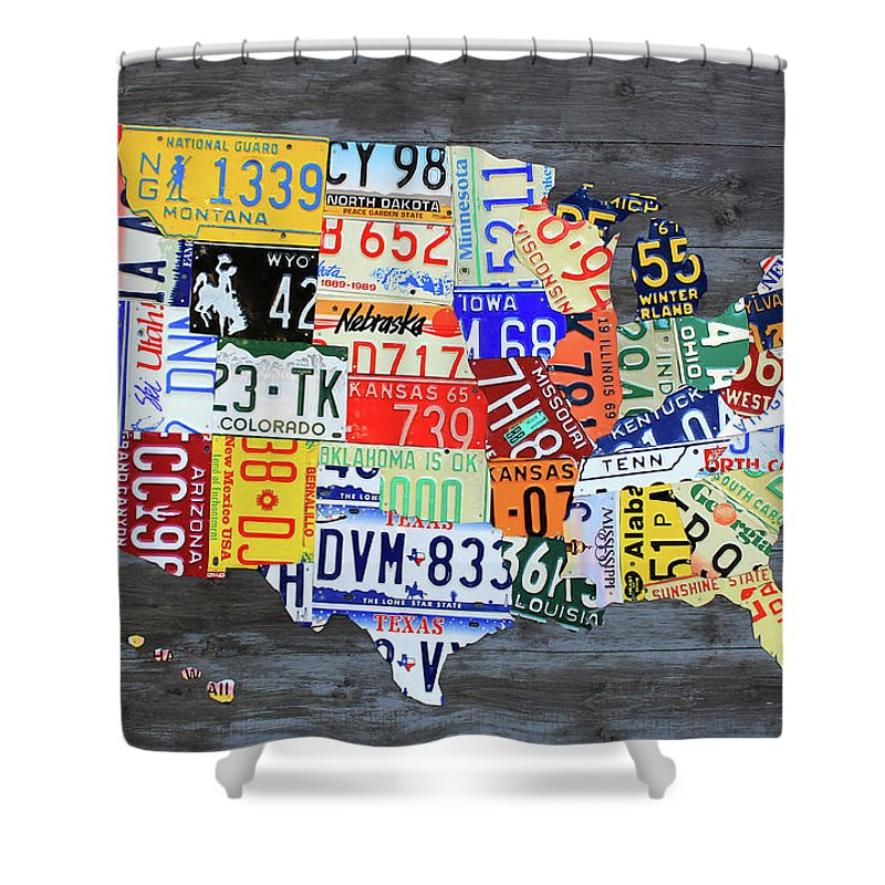 License Plate Map Of The United States Gray Edition 16 With Special on