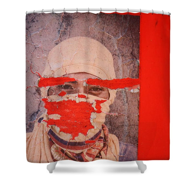 Street Photography Shower Curtain featuring the photograph Lied Tried N Died by The Artist Project
