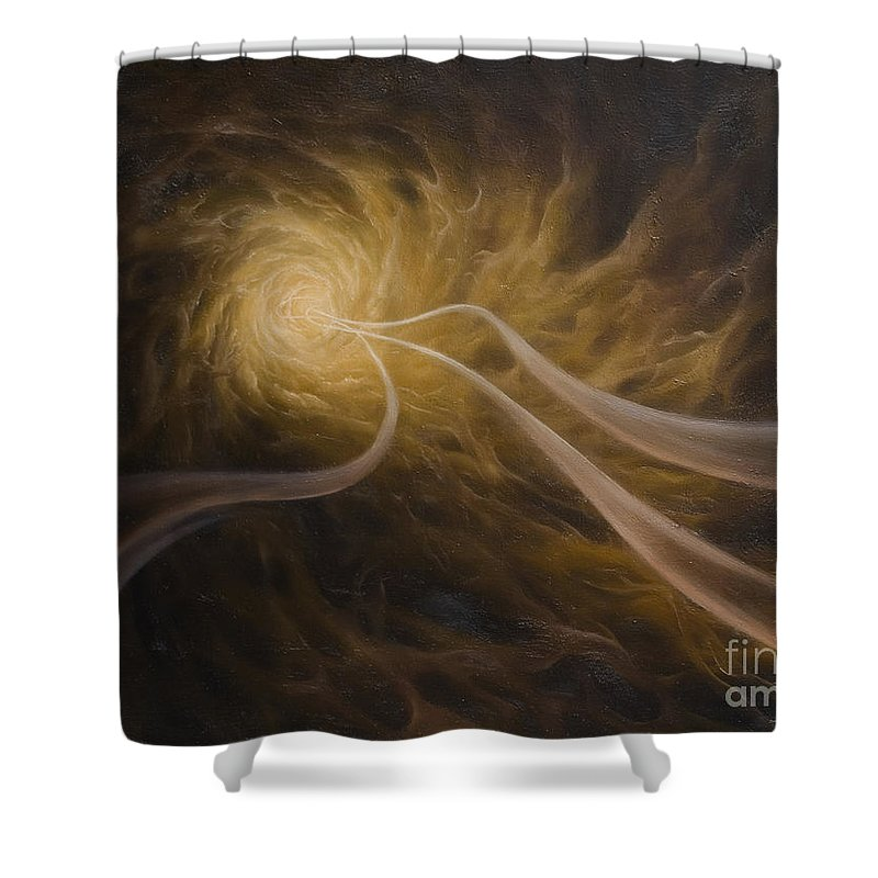 Abstract Shower Curtain featuring the painting Life After Death by Arthur Braginsky