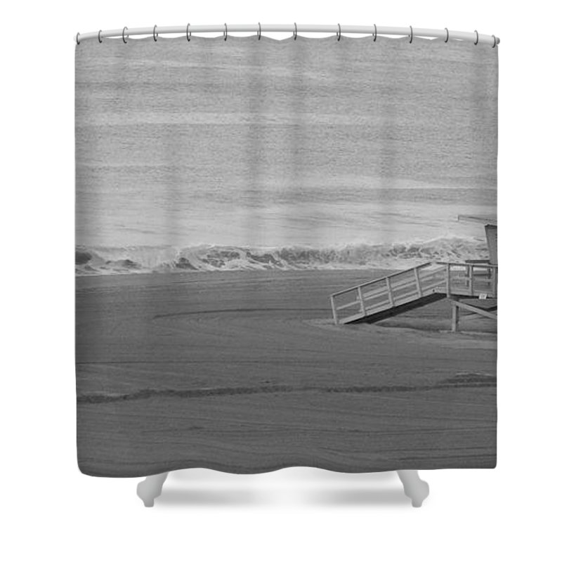 Beaches Shower Curtain featuring the photograph Life Guard Stand by Shari Chavira
