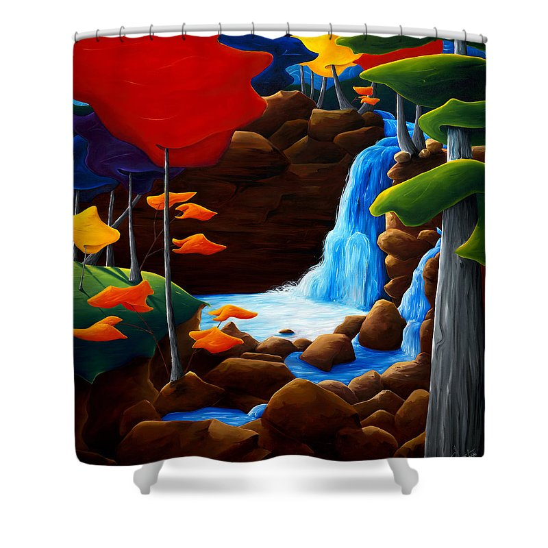 Landscape Shower Curtain featuring the painting Life In Progress by Richard Hoedl