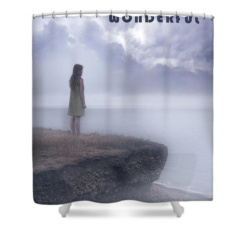 Girl Shower Curtain featuring the photograph Life Is A Climb by Joana Kruse